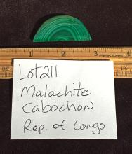 Lot 211: Malachite, Rock, Crystal, Natural, Jewelry, Lapidary, Cabochon