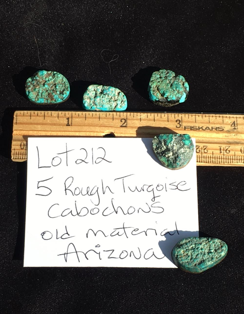 Lot 212: Turquoise, Rock, Crystal, Natural, Jewelry, Lapidary, Cabochon