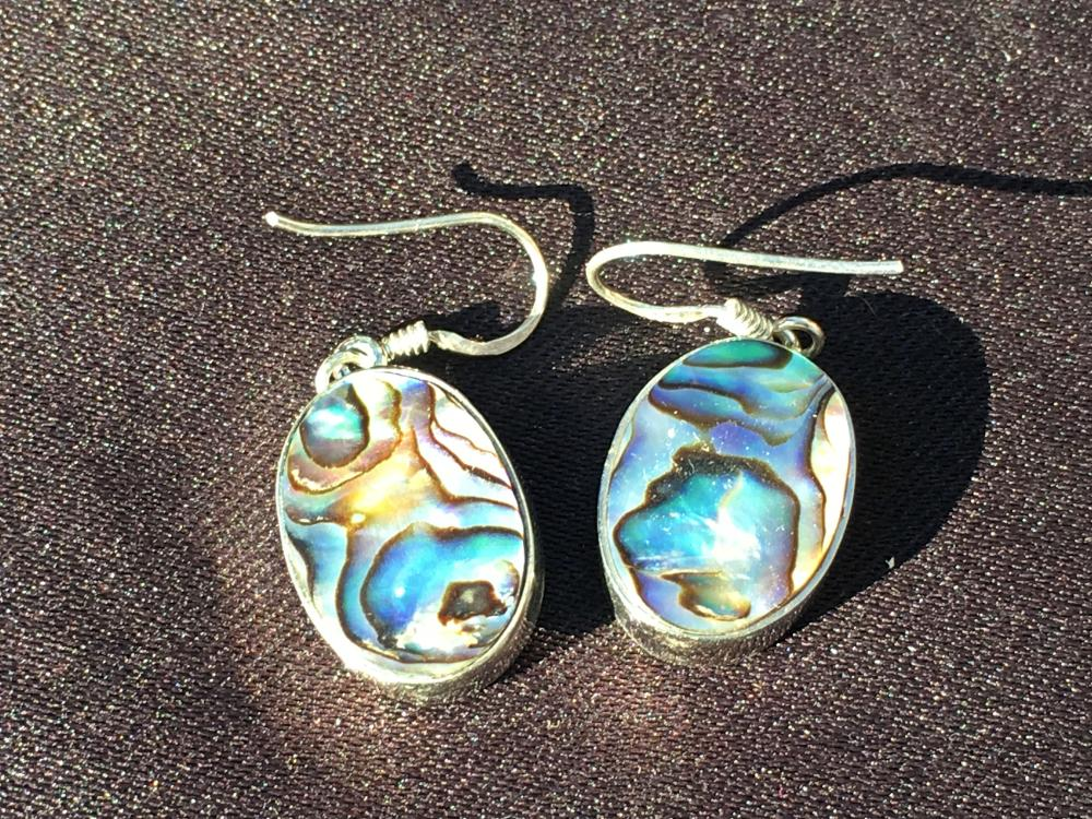 Lot 229: Shell, Natural, Jewelry, Sterling, Abalone
