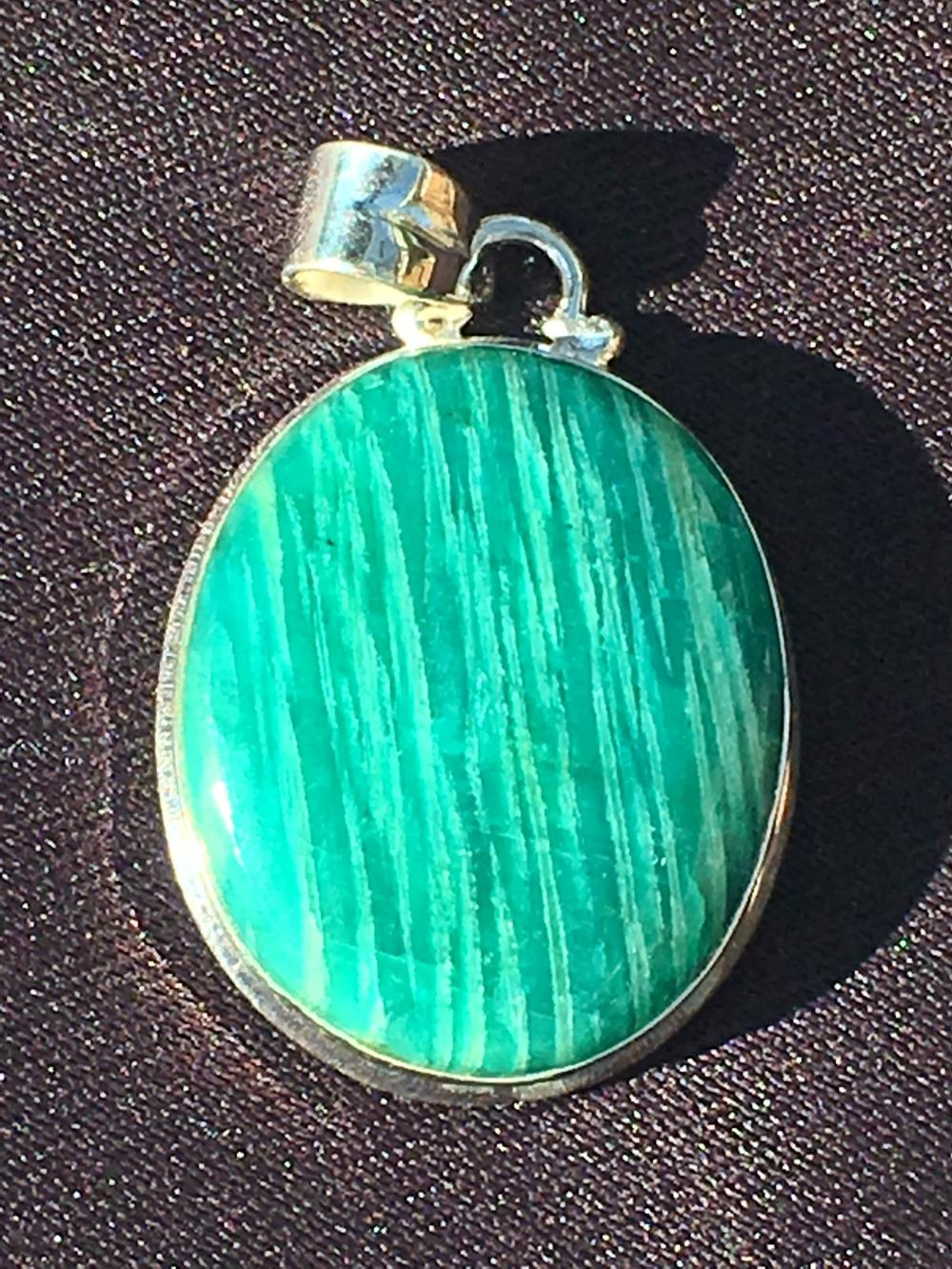 Lot 232: Amazonite, Rock, Crystal, Natural, Jewelry, Sterling