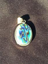 Lot 230: Shell, Natural, Jewelry, Sterling, Abalone