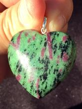 Lot 233: Ruby zoisite, Rock, Crystal, Natural, Jewelry, Heart