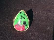 Lot 234: Ruby zoisite, Rock, Crystal, Natural, Jewelry, Sterling