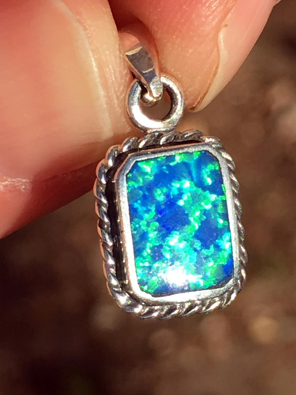 Lot 240: Opal, Rock, Crystal, Natural, Jewelry, Sterling