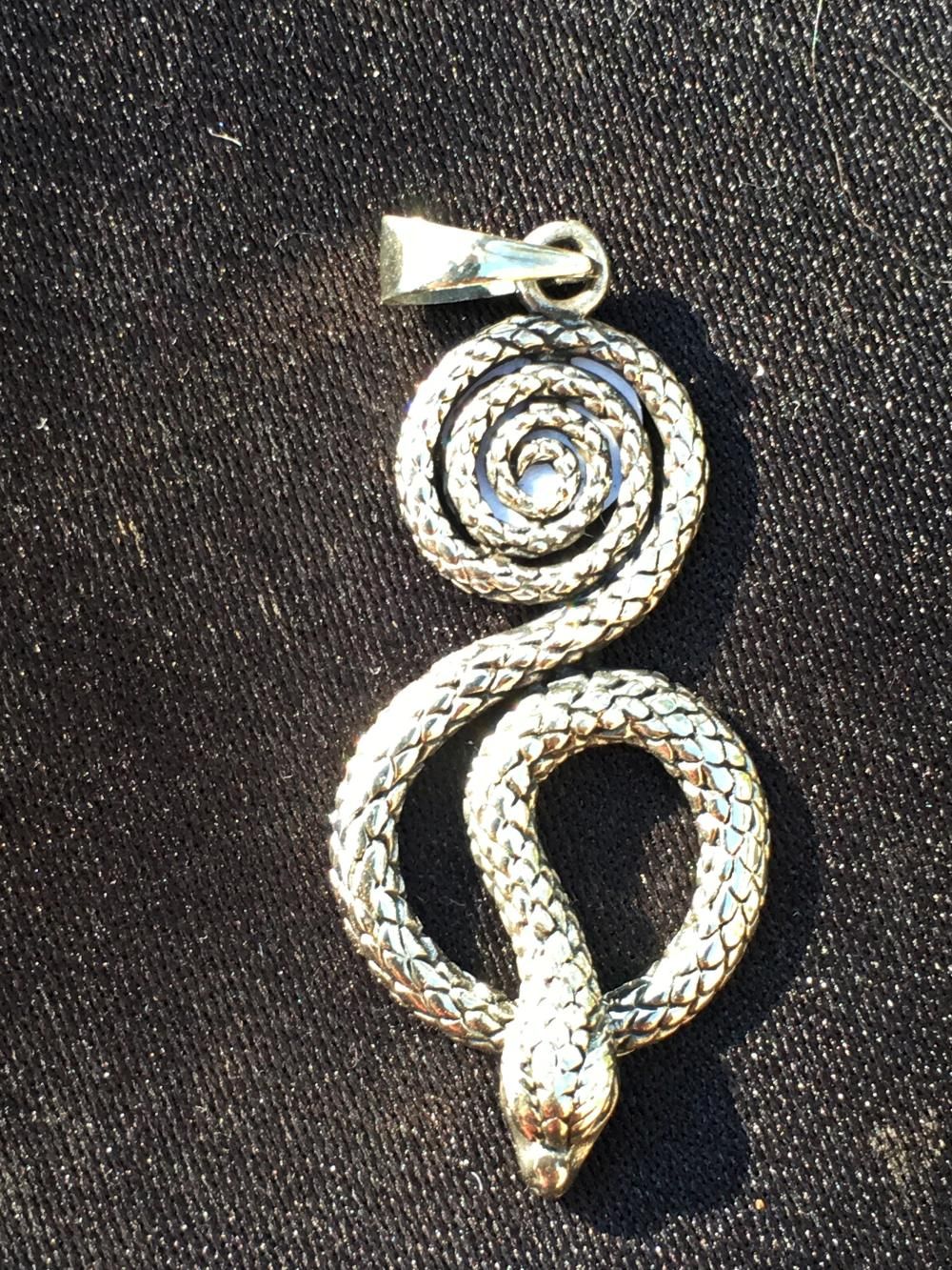 Lot 246: Silver, Jewelry, Charm, Snake