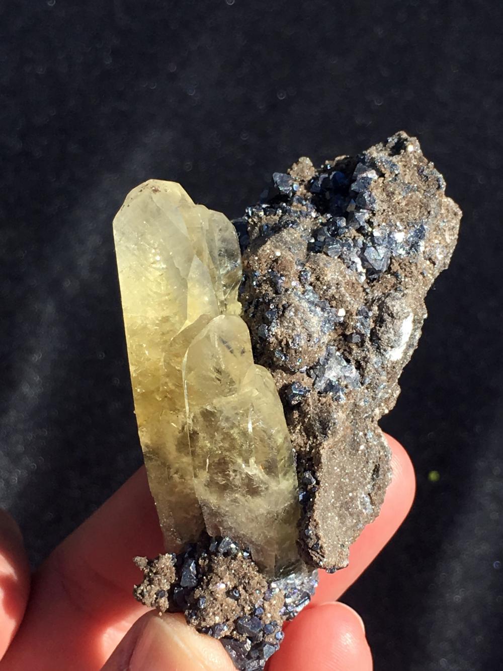 Lot 263: Galena, Calcite, Rock, Crystal, Natural, Mineral, Specimen, Viburnum