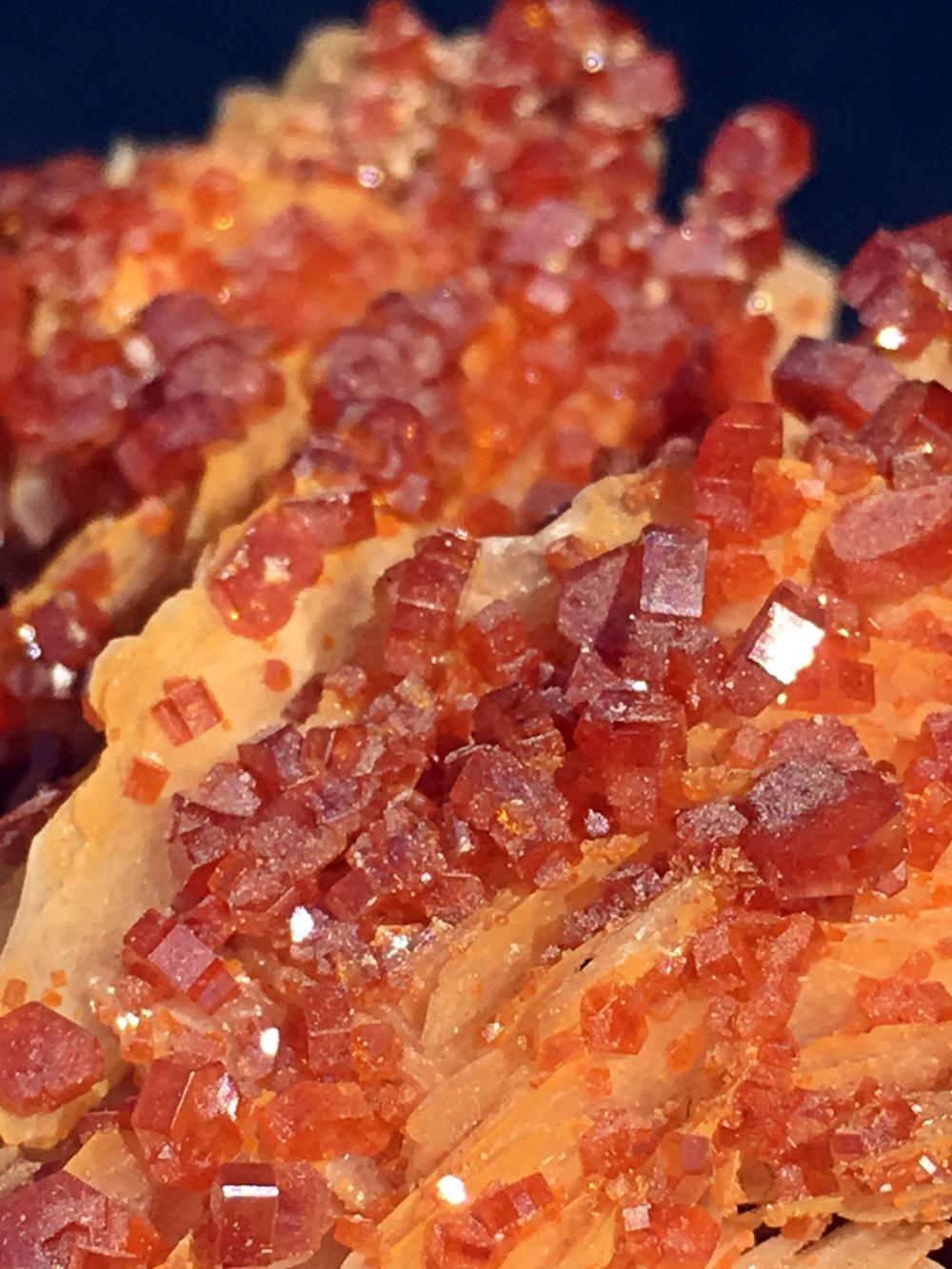 Lot 278: Vanadanite, Barite, Rock, Crystal, Natural, Collectible, Mineral, Specimen