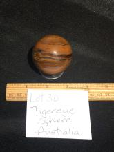 Lot 310: Tiger eye, Rock, Crystal, Natural, Décor, Collectible, Carving, Sphere