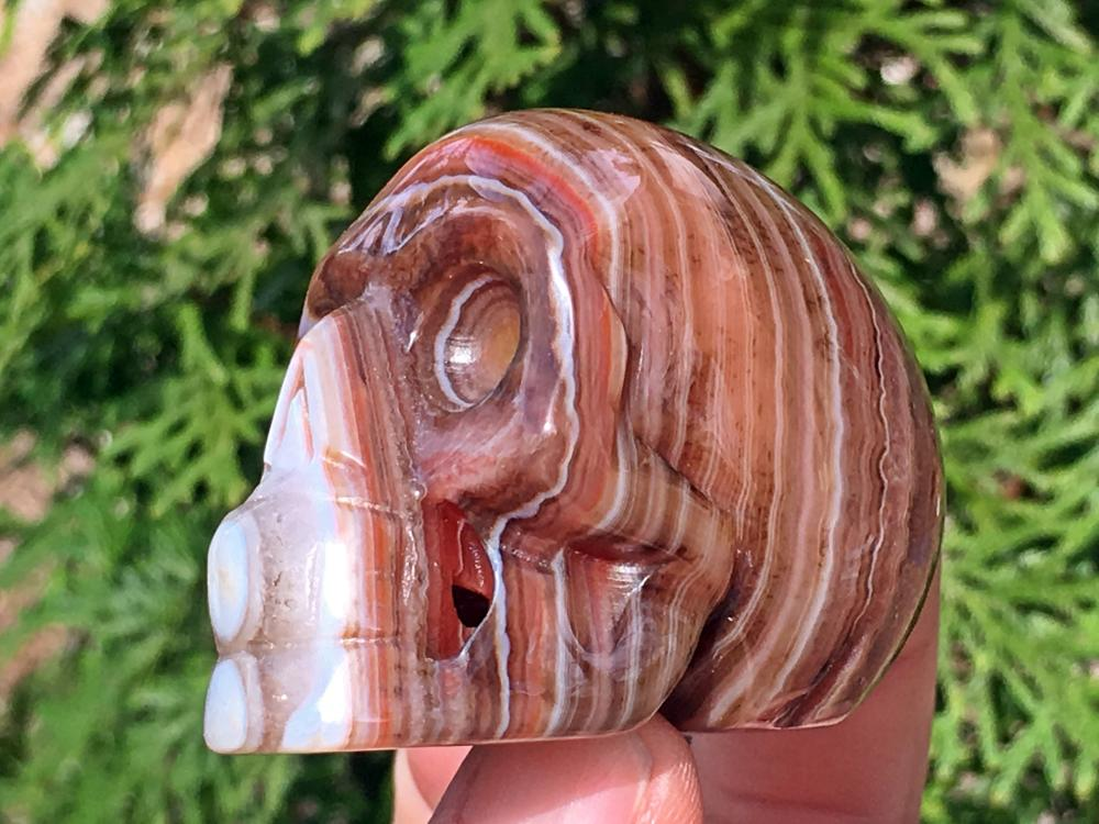 Lot 341: Agate, Rock, Crystal, Natural, Collectible, Carving, Skull