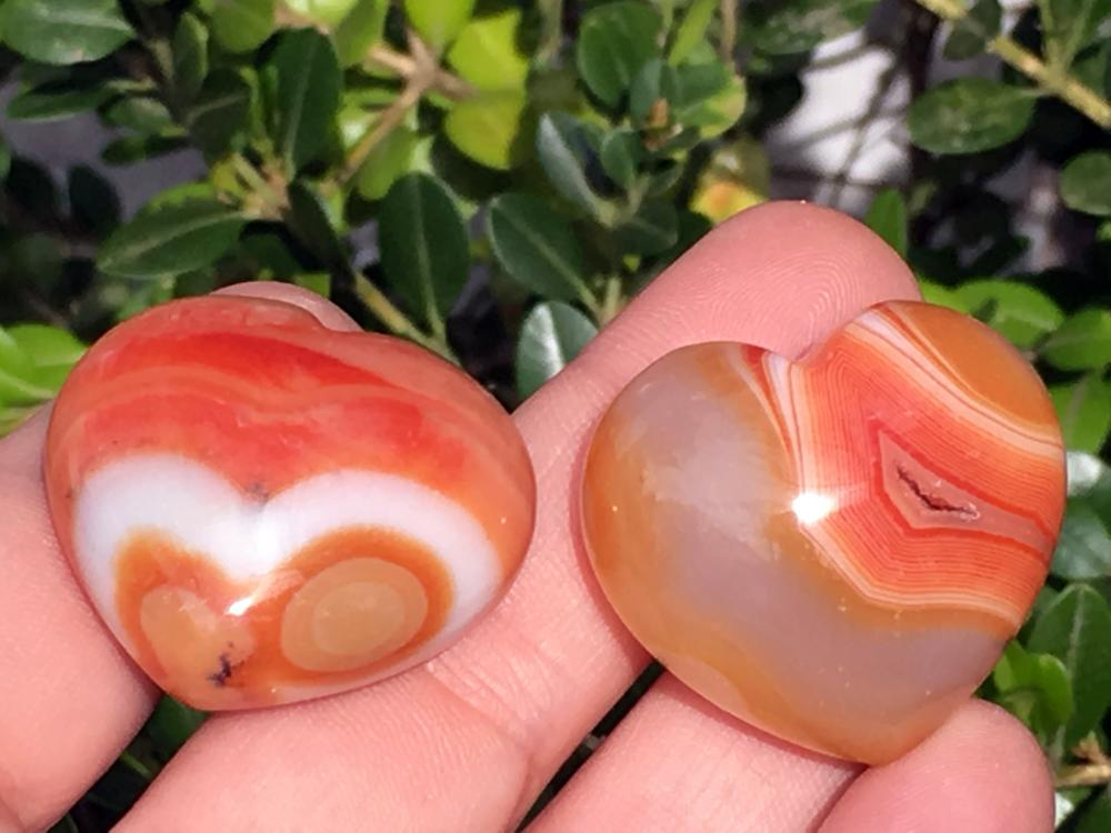 Lot 344: Agate, Rock, Crystal, Natural, Collectible, Carving, Heart