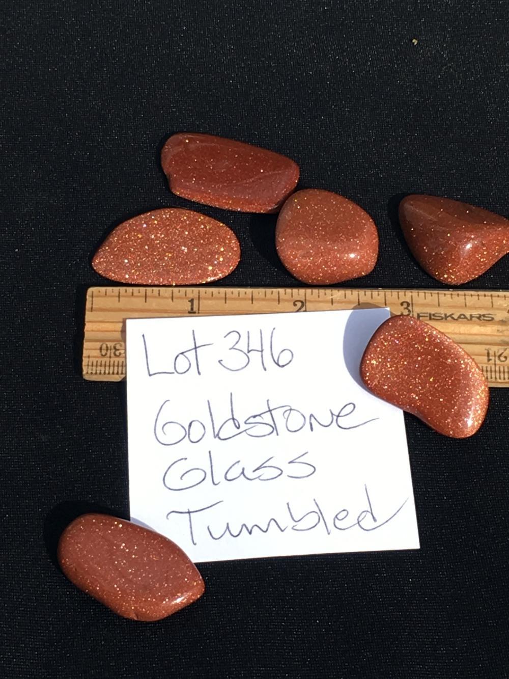 Lot 346: Goldstone, Glass, Rock, Crystal, Natural, Tumbled