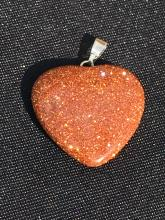 Lot 354: Goldstone, Glass, Natural, Jewelry, Heart