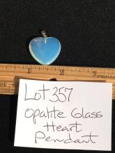 Lot 357: Opalite, Glass, Natural, Jewelry, Heart