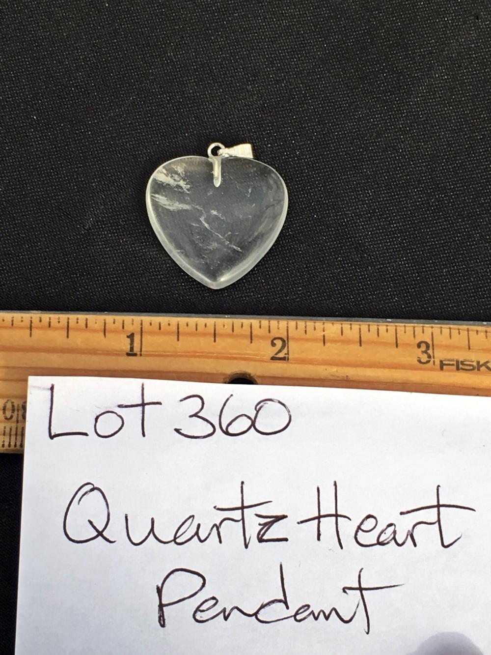 Lot 360: Quartz, Rock, Crystal, Natural, Jewelry, Heart