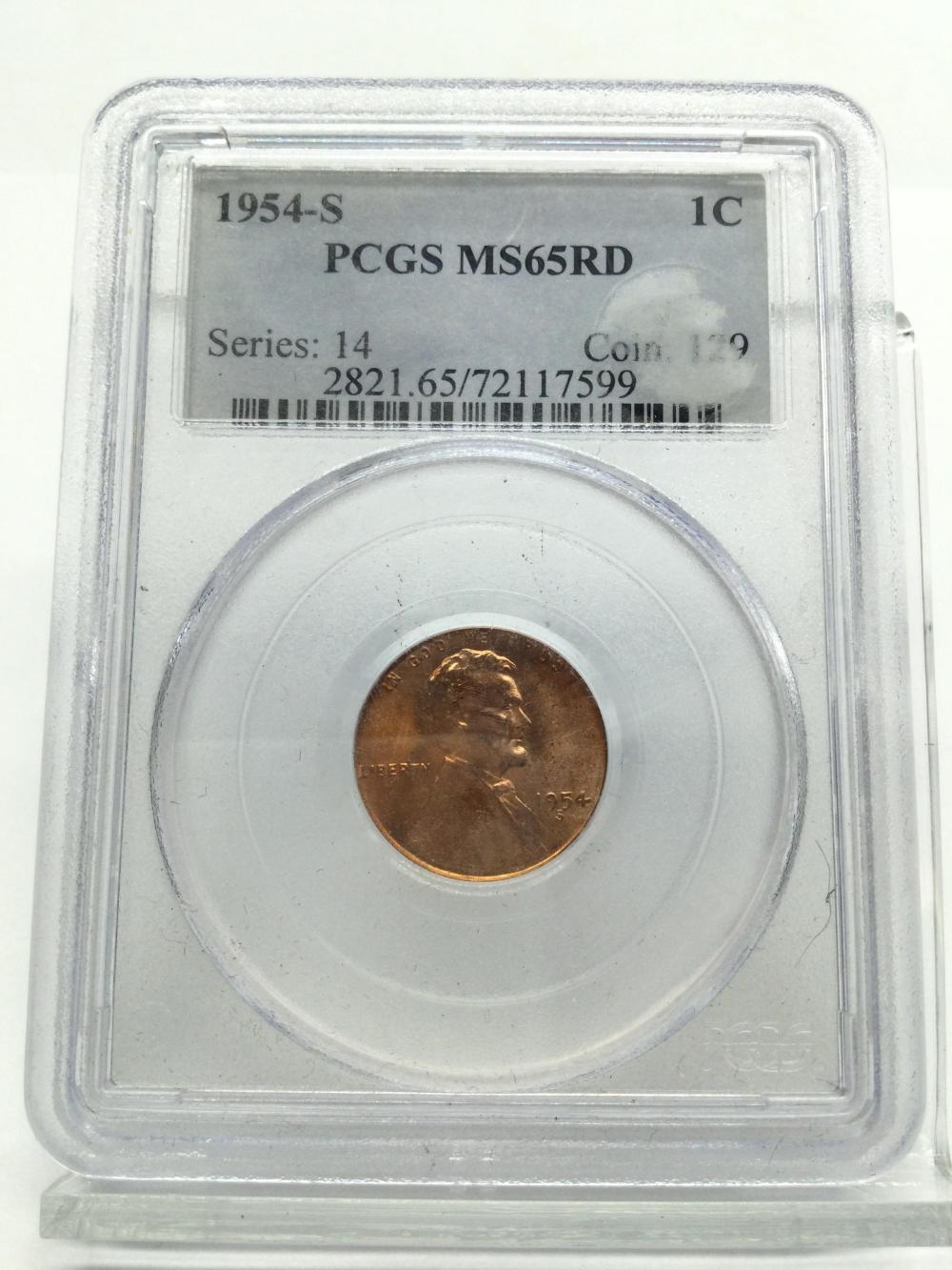 1954-S Graded Lincoln Wheat Penny