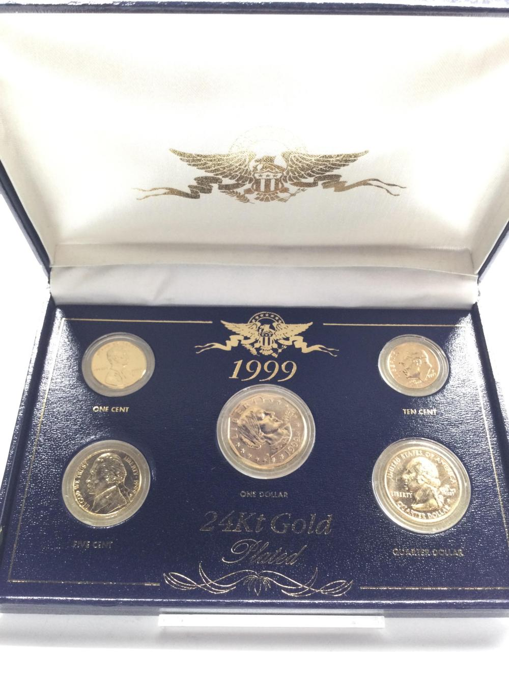 1999 24KT Gold Plated Coin Set