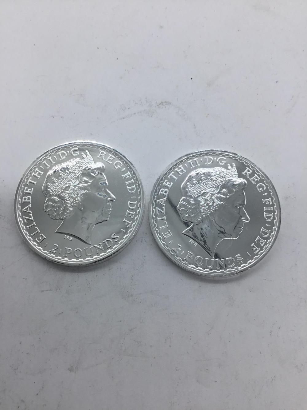 British 2 pound coin silver