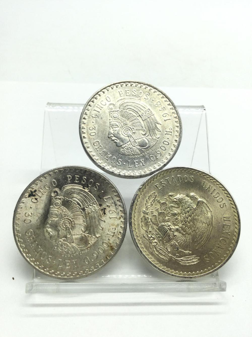 3 Mexican Coins