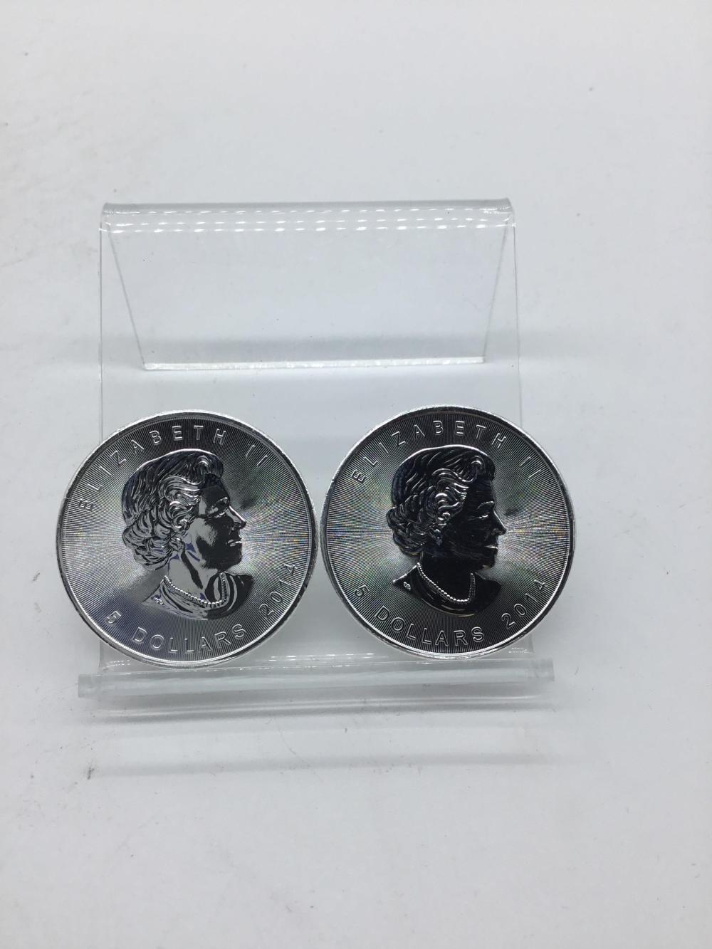 Canadian $5 silver coins