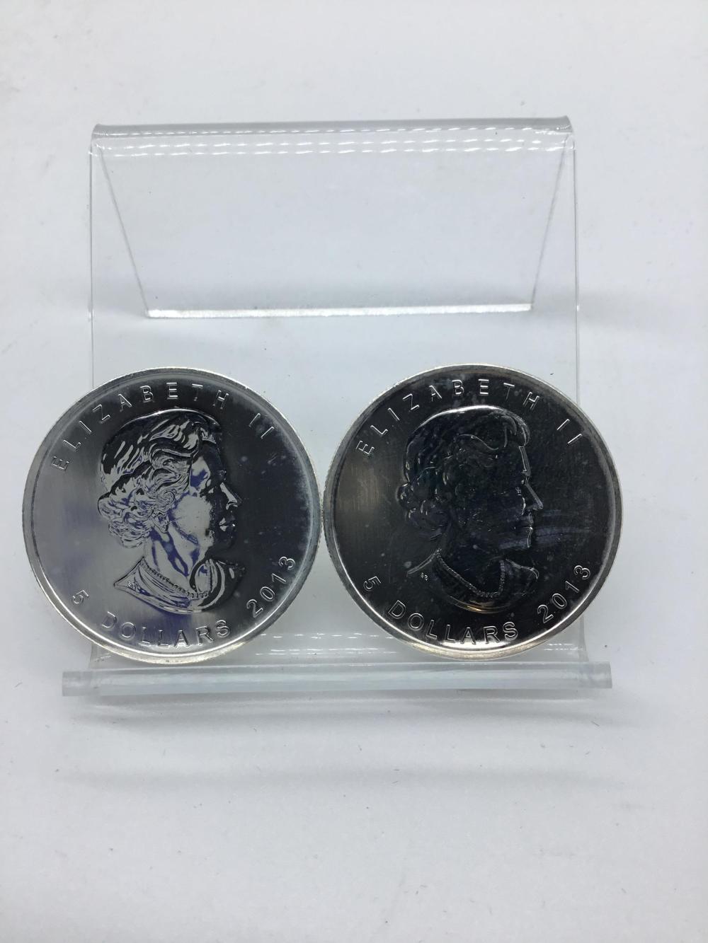 2013 Canadian $5 1oz fine silver coin