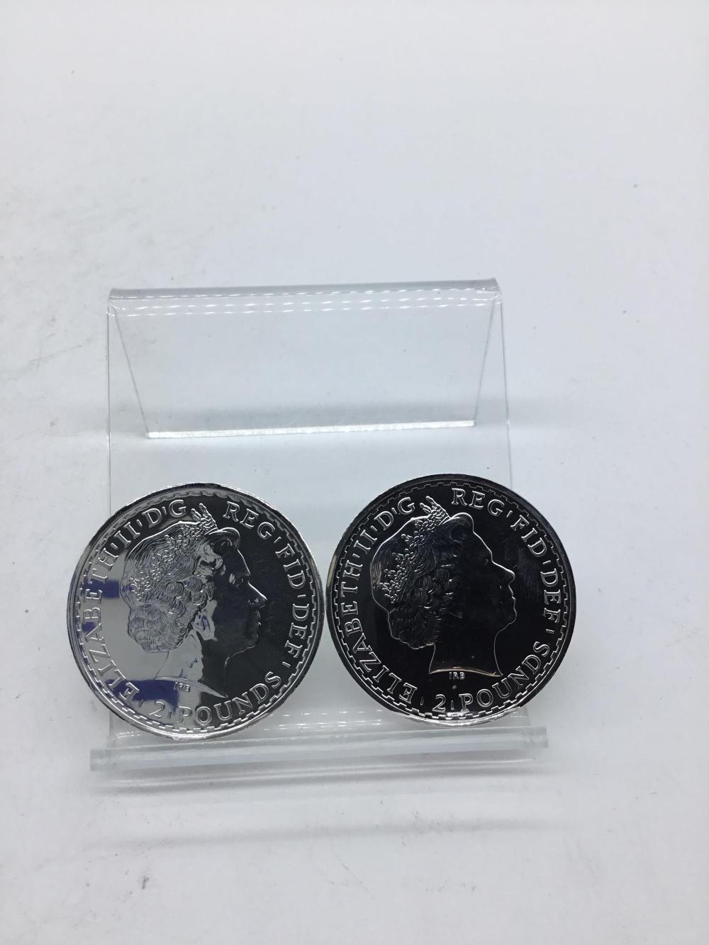 British 2 pound silver coins