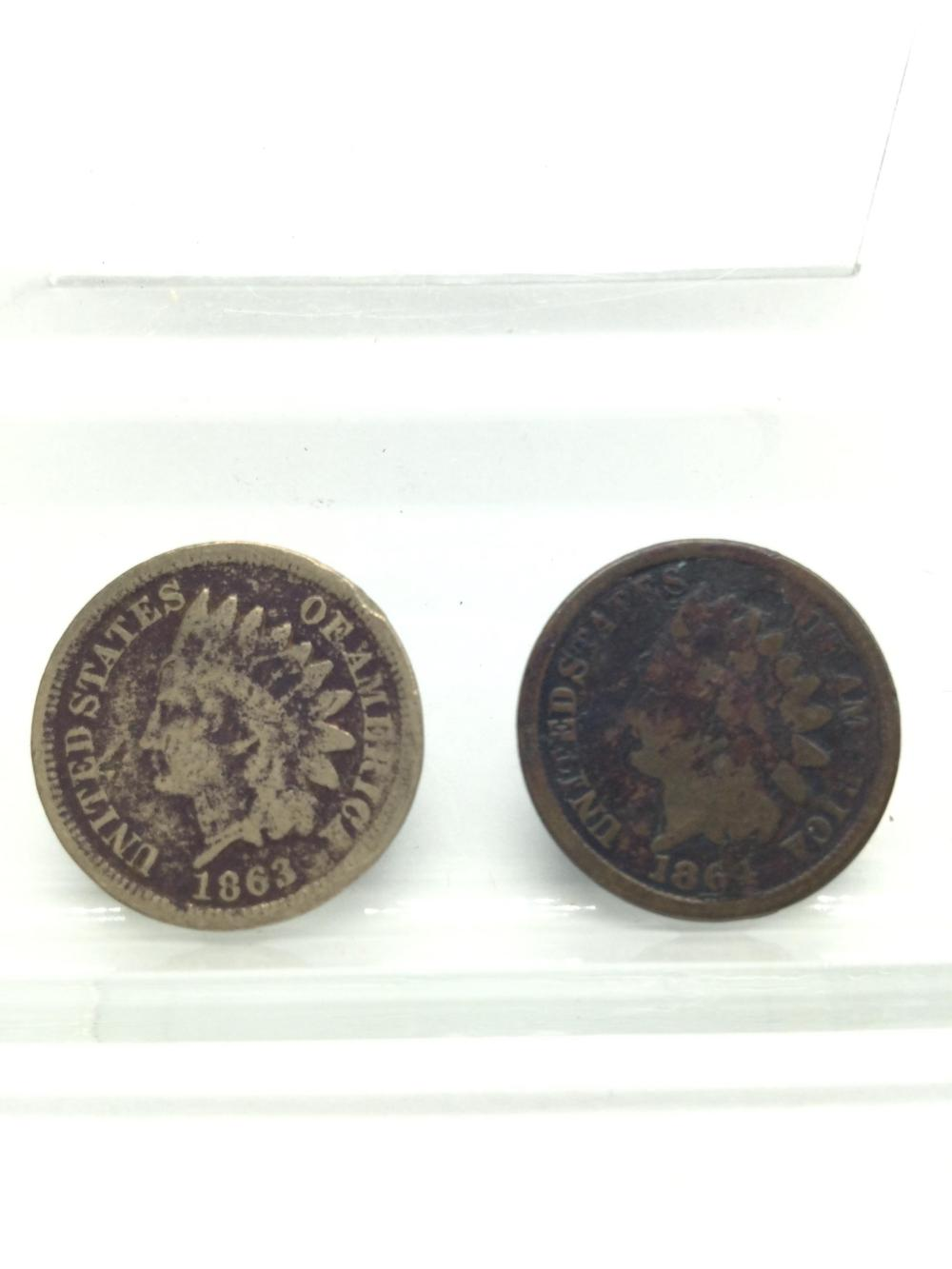 1863 & 1864 Indian Head Cents