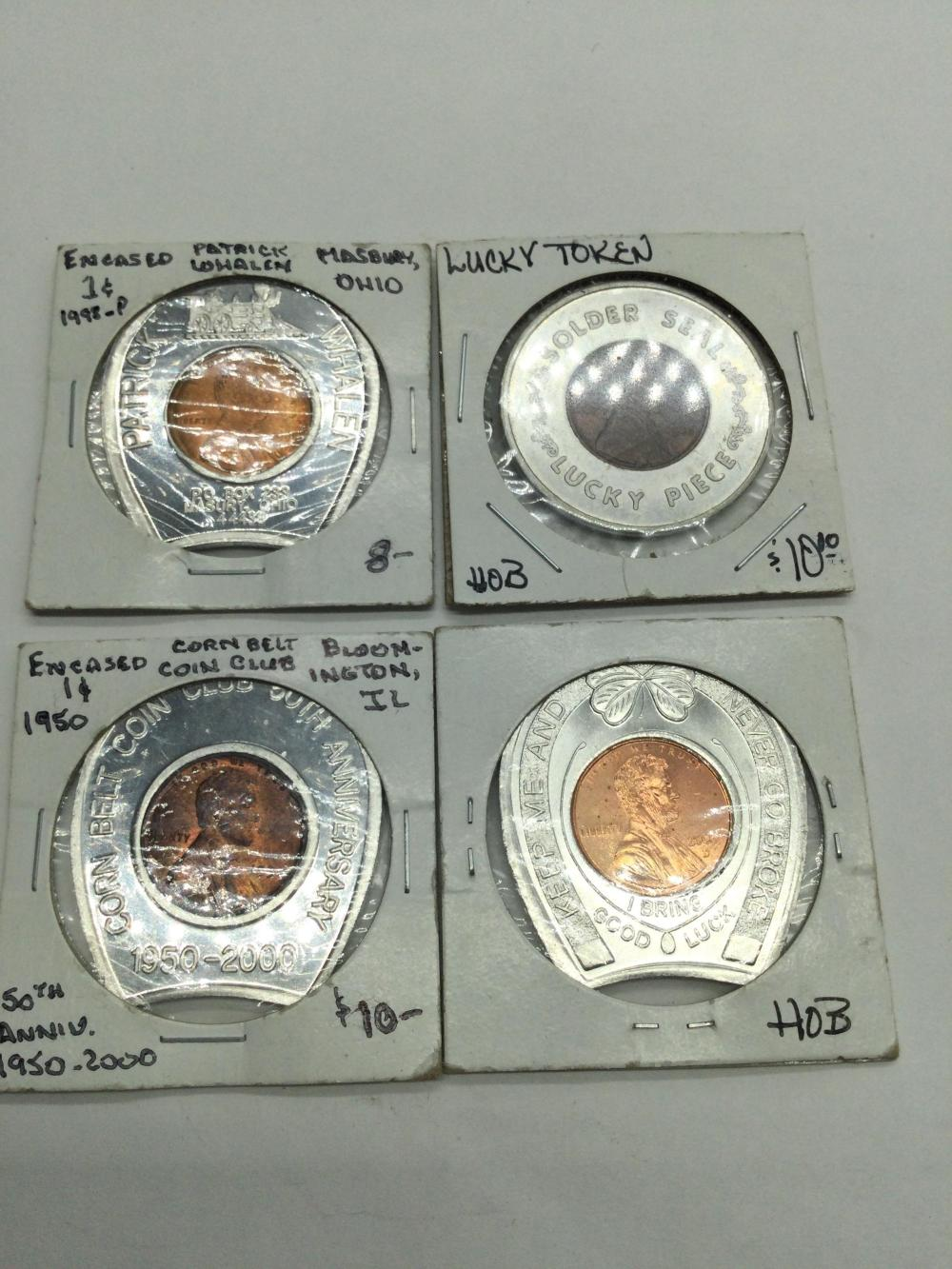 4 Lucky Penny Tokens