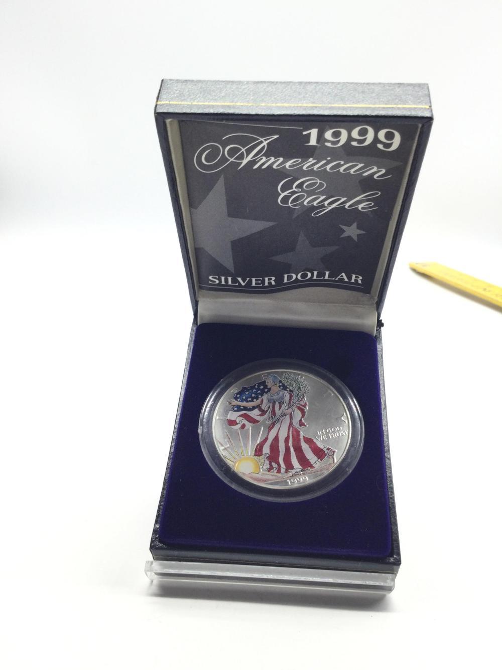 1999 Colorized Silver American Eagle