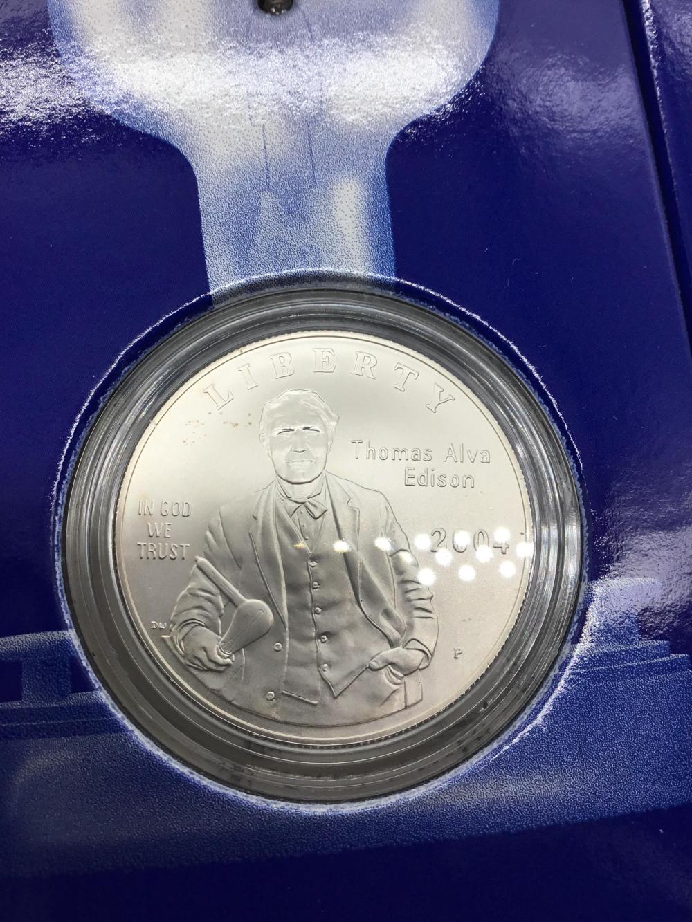 Thomas Edison Commemorative coin