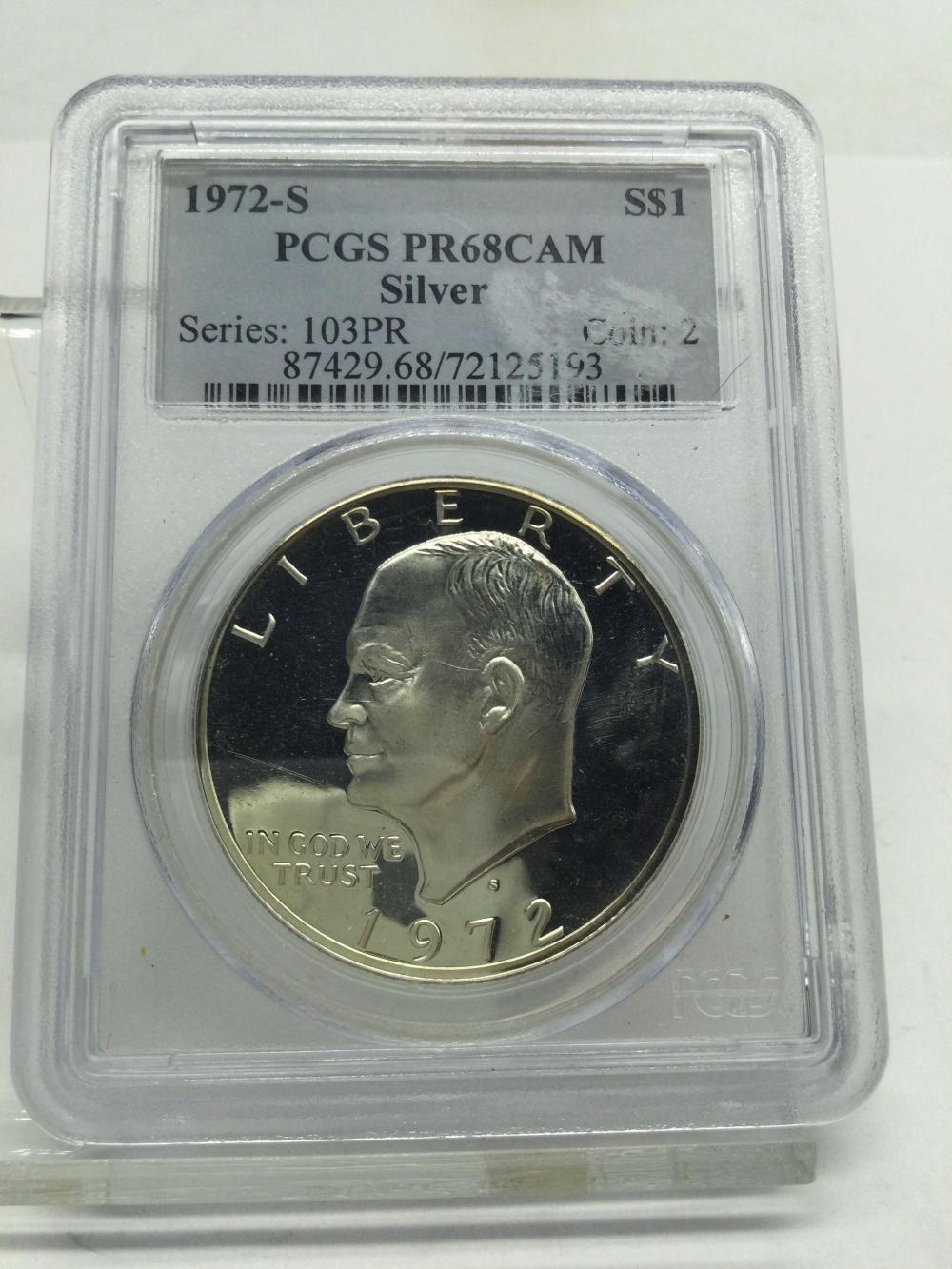 Graded Eisenhower Silver Dollar