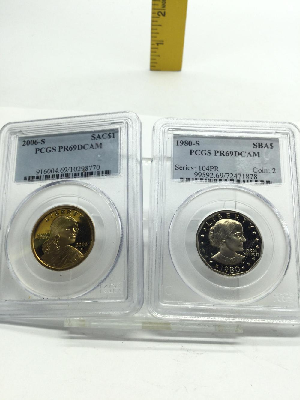 2 Graded Coins