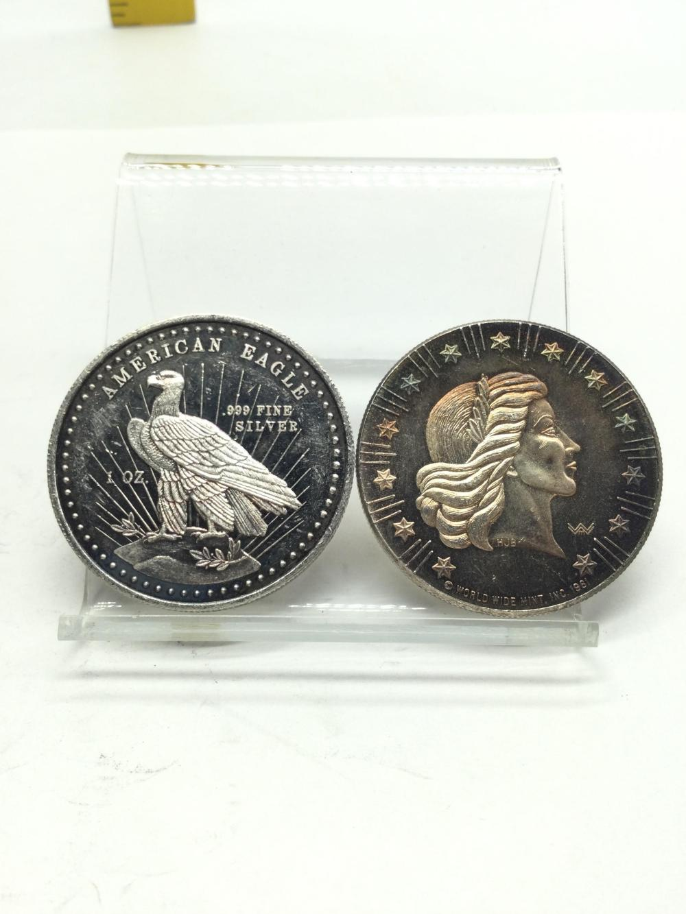 2-1 Ounce .999 Fine Silver Rounds
