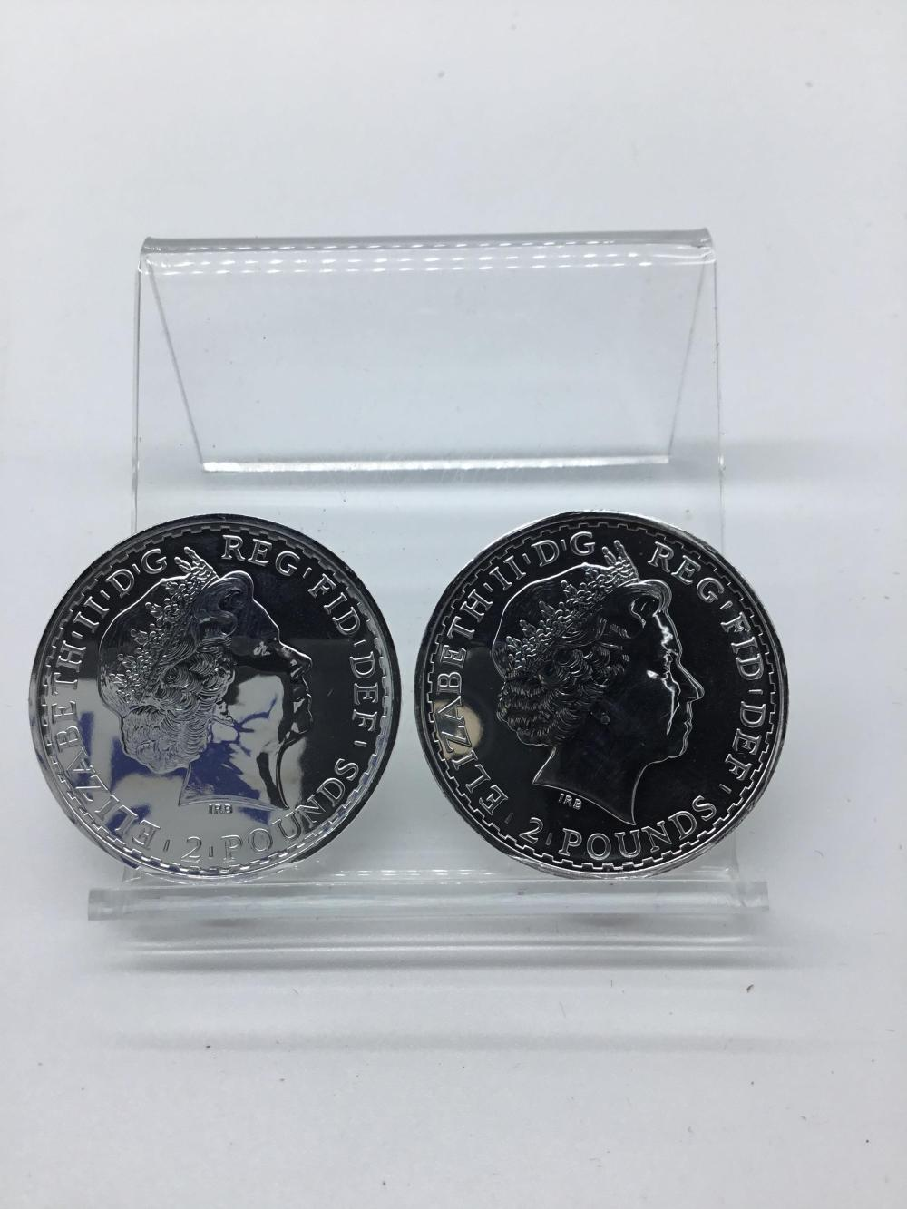 2013 2 British pounds silver coins