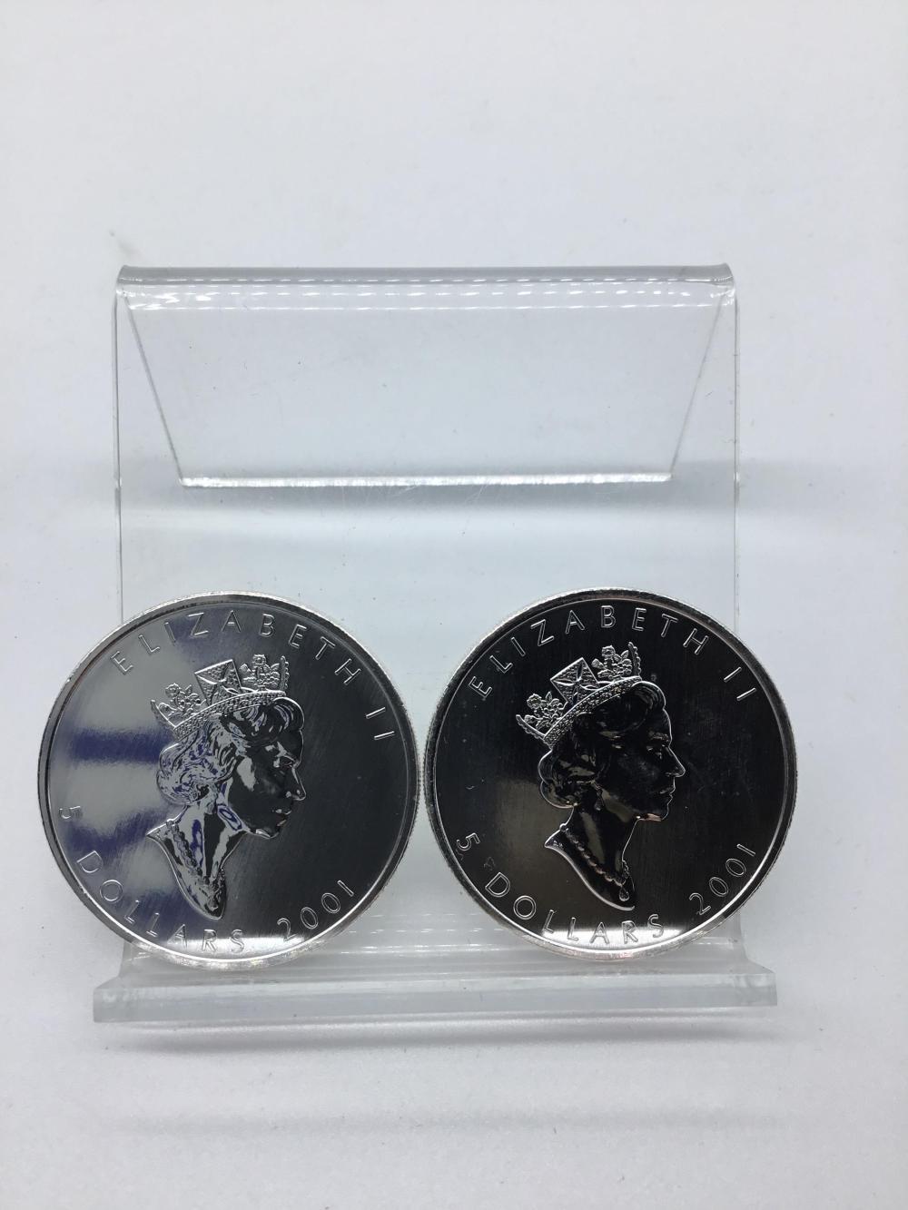 2011 Canadian Maple leaf silver $5