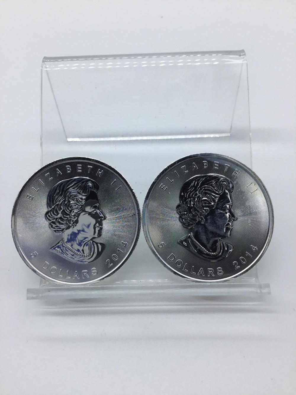2014 Canada Maple leaf Silver $5