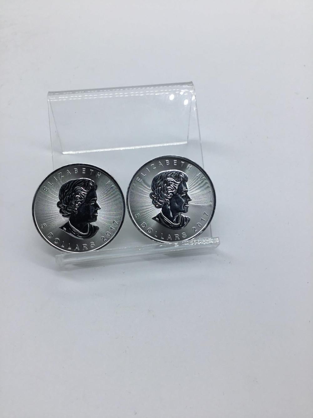 Canada maple leaf silver $5 coin