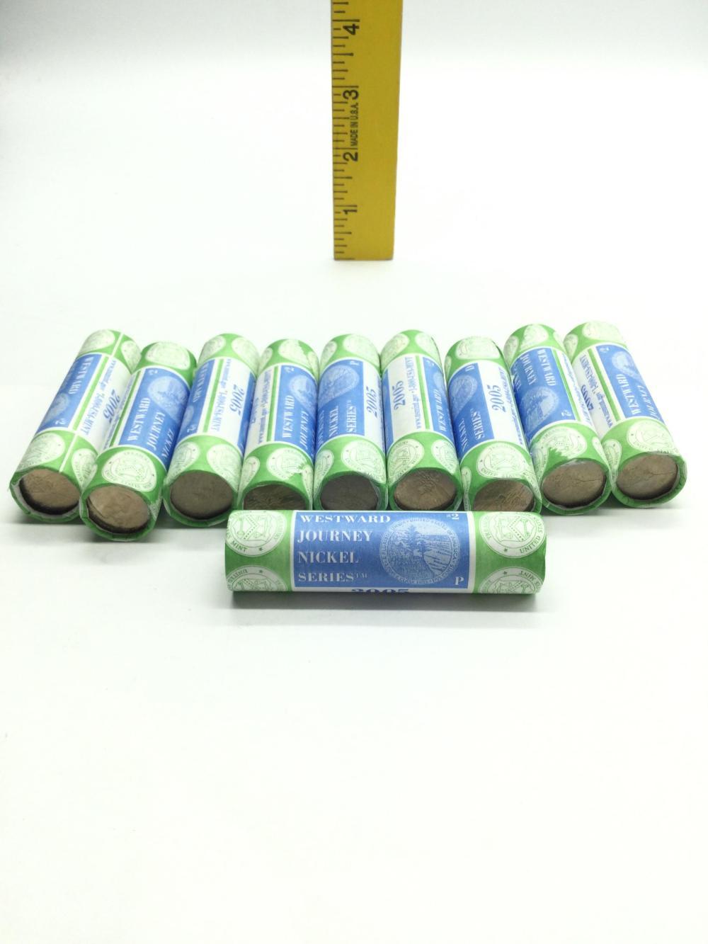 10 Rolls 2005 Westward Journey Jefferson Nickels