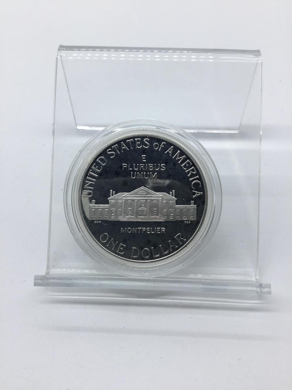 1993 James Madison Silver Dollar