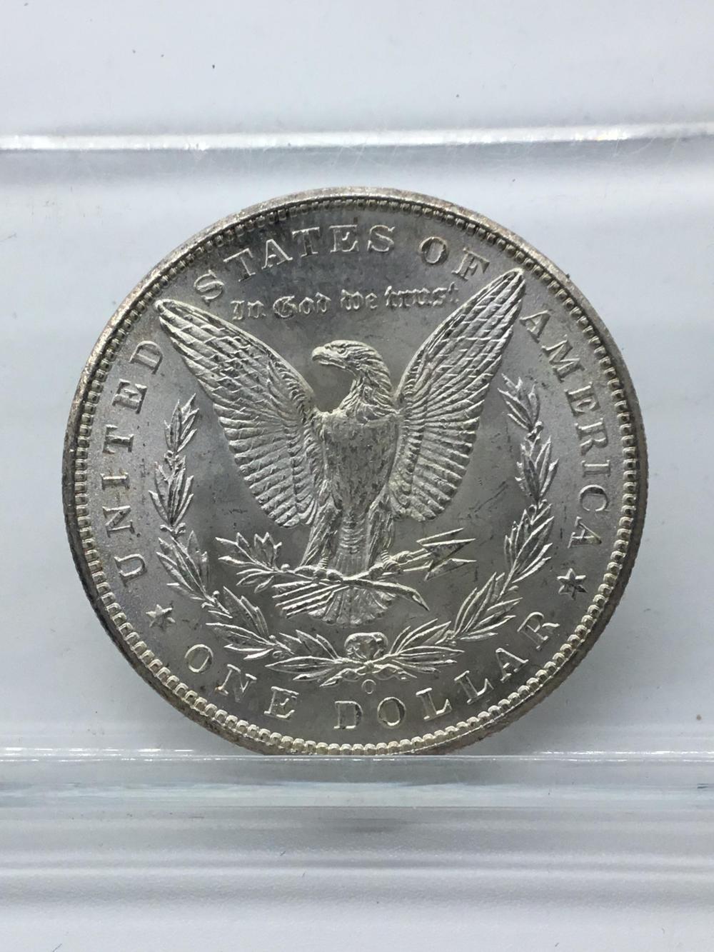 1898o Morgan silver dollar