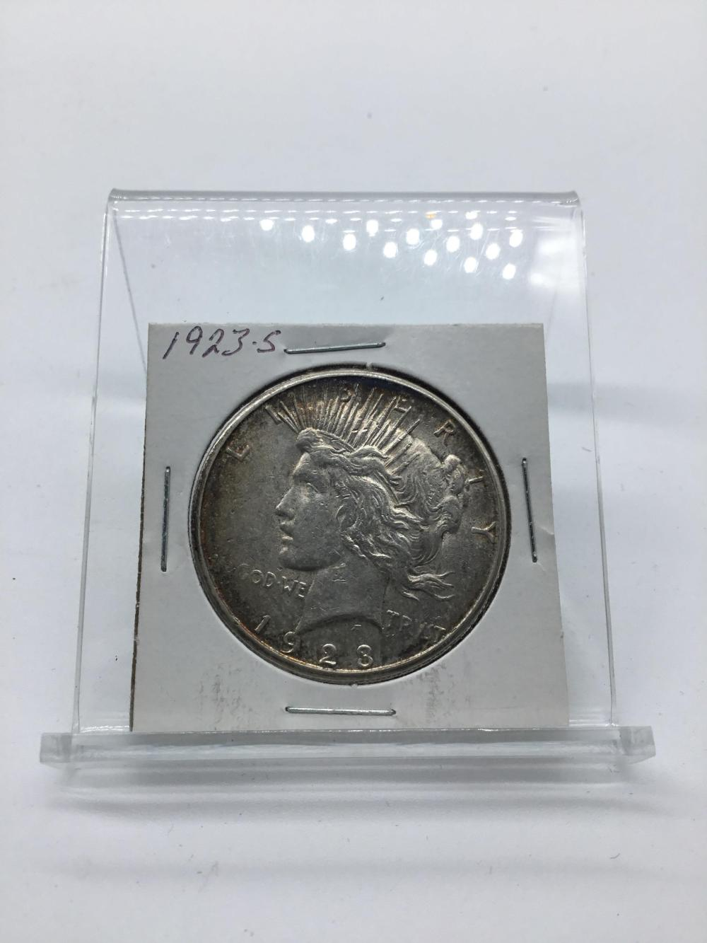 1923S peace silver dollar