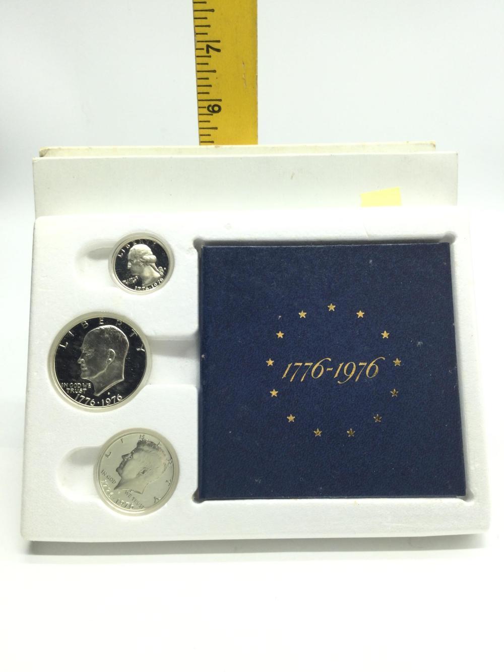 3 Bicentennial Silver Proof Sets