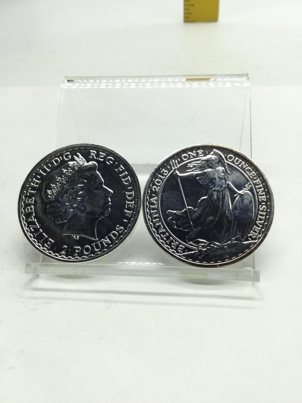 2 Britannia Fine Silver Rounds