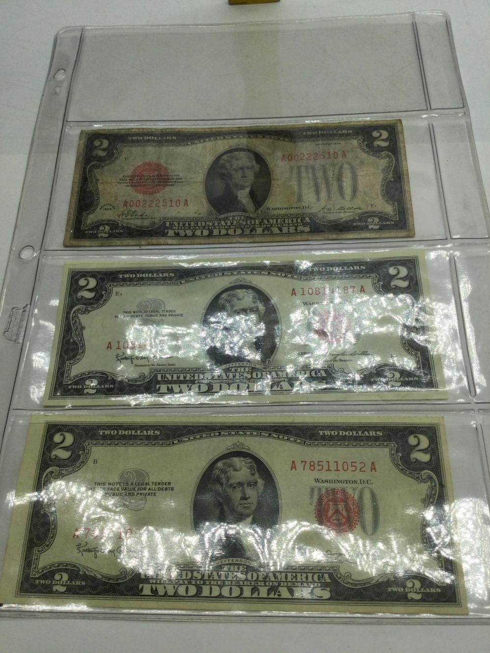 3 Older $2 Bills