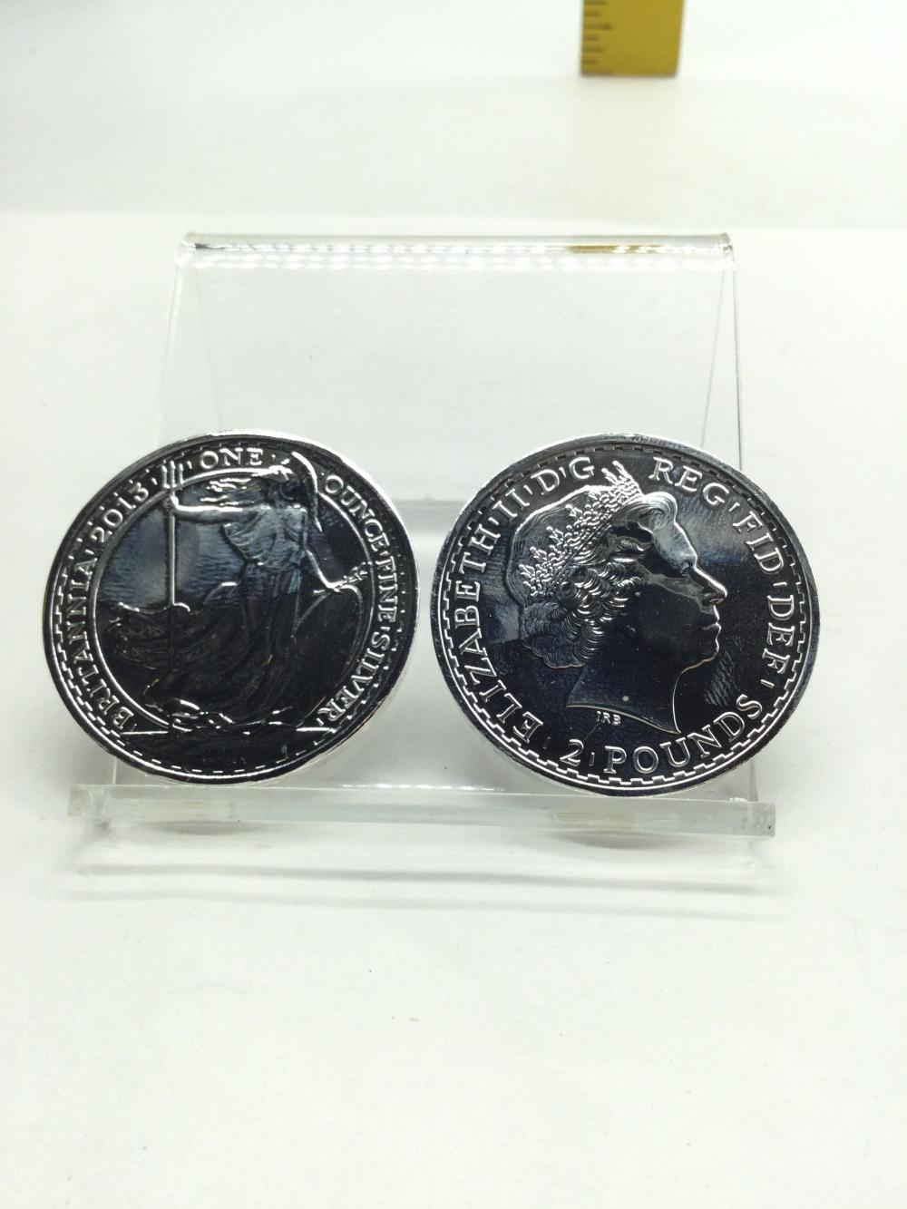 2 Britannia Silver Rounds