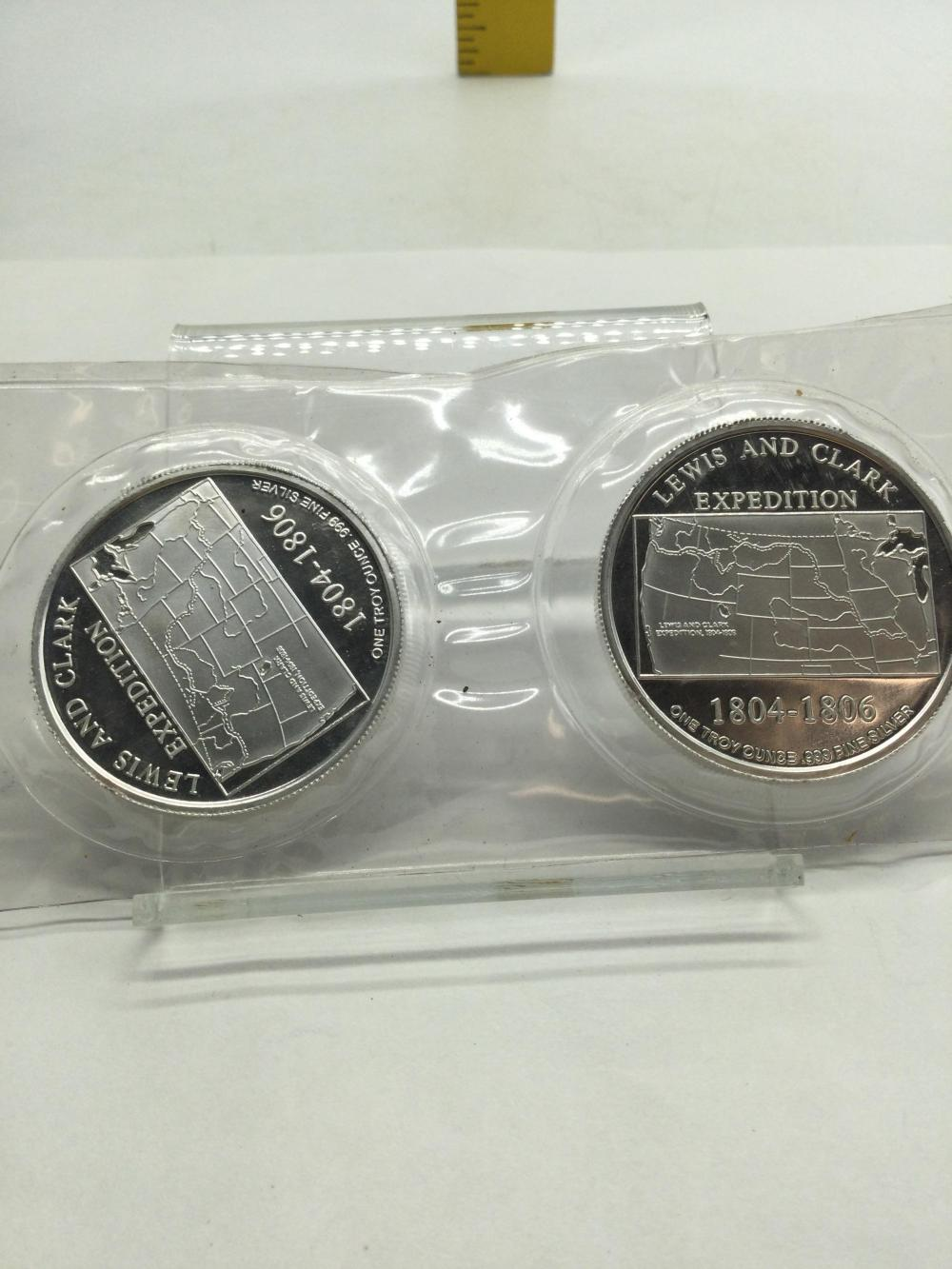 2 -1 Troy Ounce.999 Fine Silver Rounds