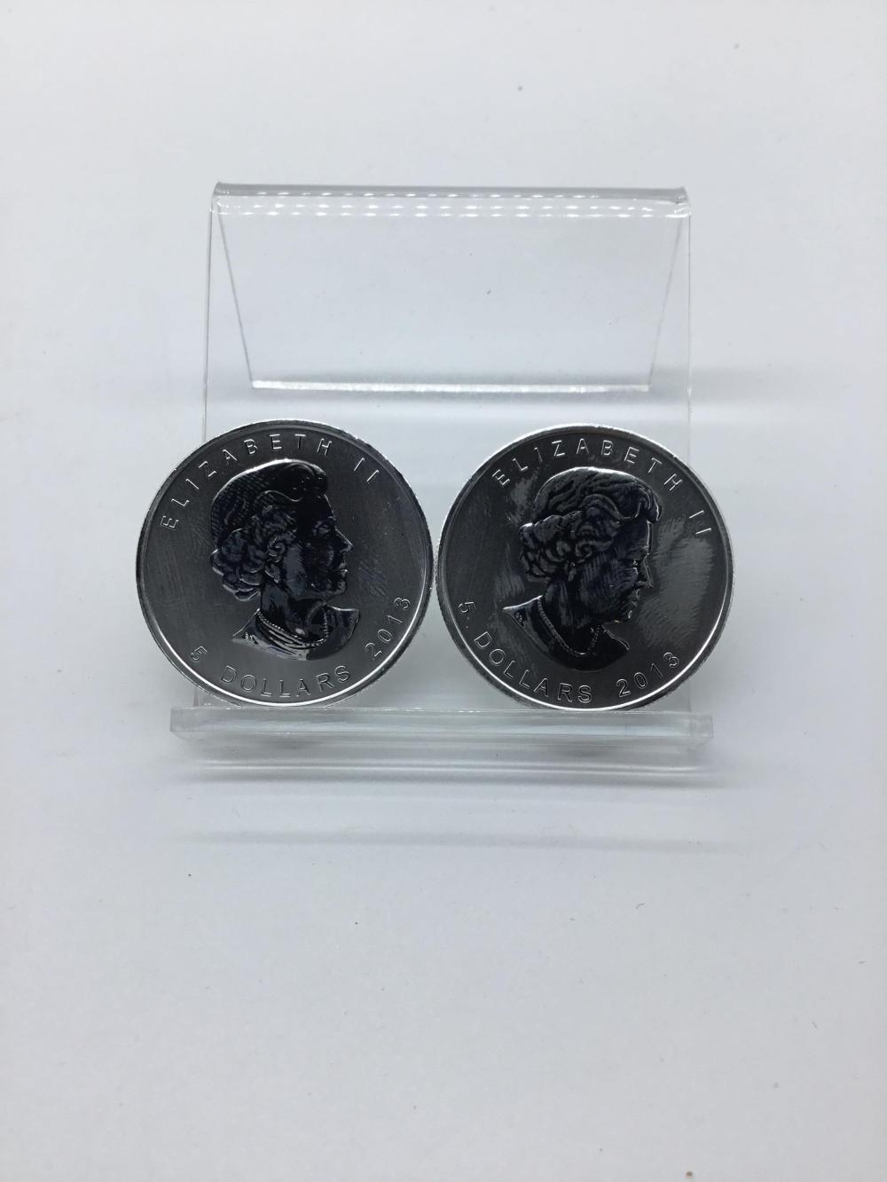 2013 Canadian Maple leaf silver $5 coin