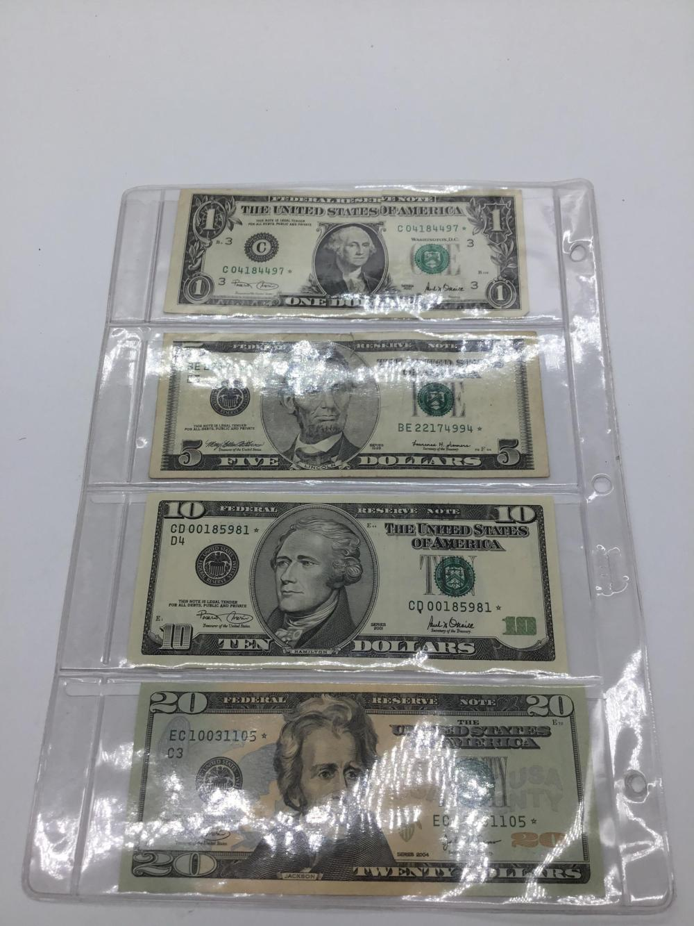 Green star currency set