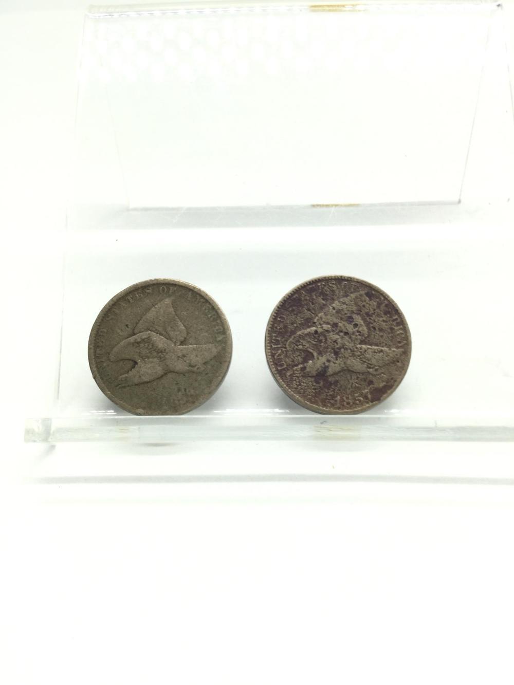 2 Flying Eagle Cents