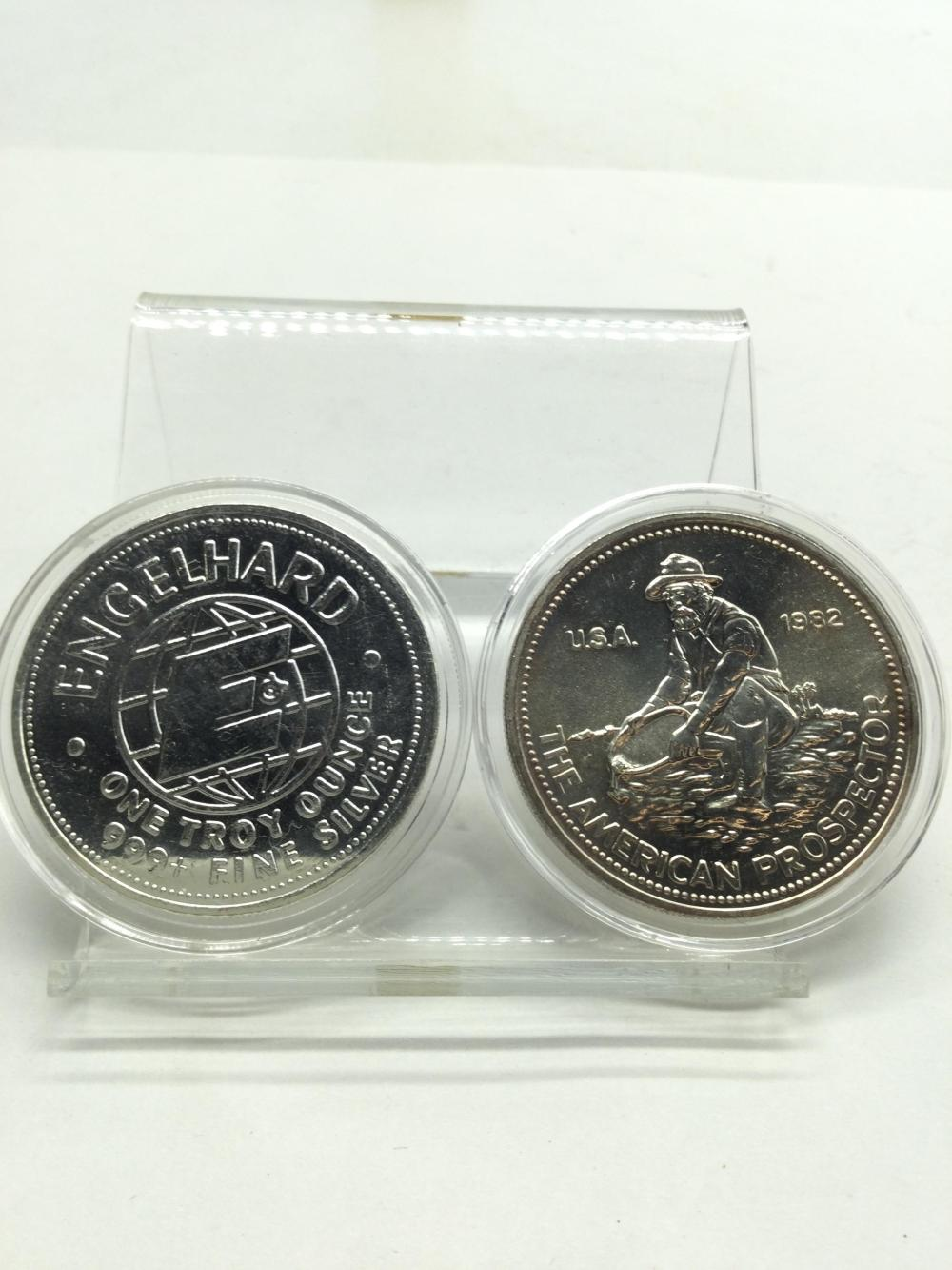 2-1 Troy Ounce.999 Fine Silver Rounds