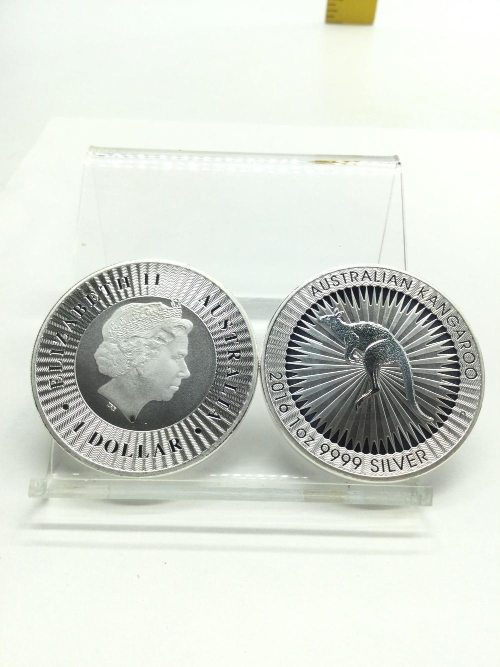 2 Australian 1 Argent Ounce Fine Silver Rounds